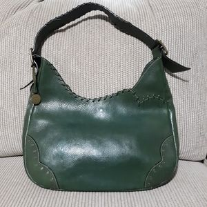 Dooney Bourke Green Whipstitch Hobo HTF with Flaws